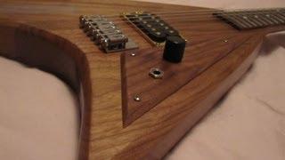 How I made my custom jackson RR style guitar