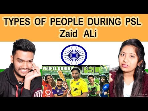 Indian Reaction on Zaid Ali video | TYPES OF PEOPLE DURING PSL | Swaggy d