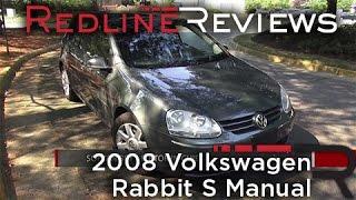 2008 Volkswagen Rabbit S Manual Walkaround, Exhaust, Review, Test Drive