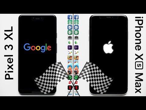 Google Pixel 3 XL Vs. IPhone XS Max Speed Test