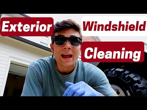 How to Clean Your Exterior Windshield The Right Way!