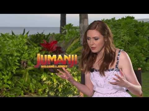 Jumanji: Welcome to the Jungle: Karen Gillan Official Movie Interview
