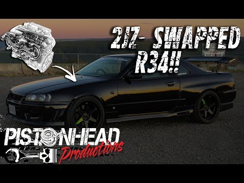 The first 2JZ-swapped R34 Skyline in North America?