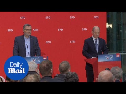 German Social Democratic Party votes to form coalition - Daily Mail