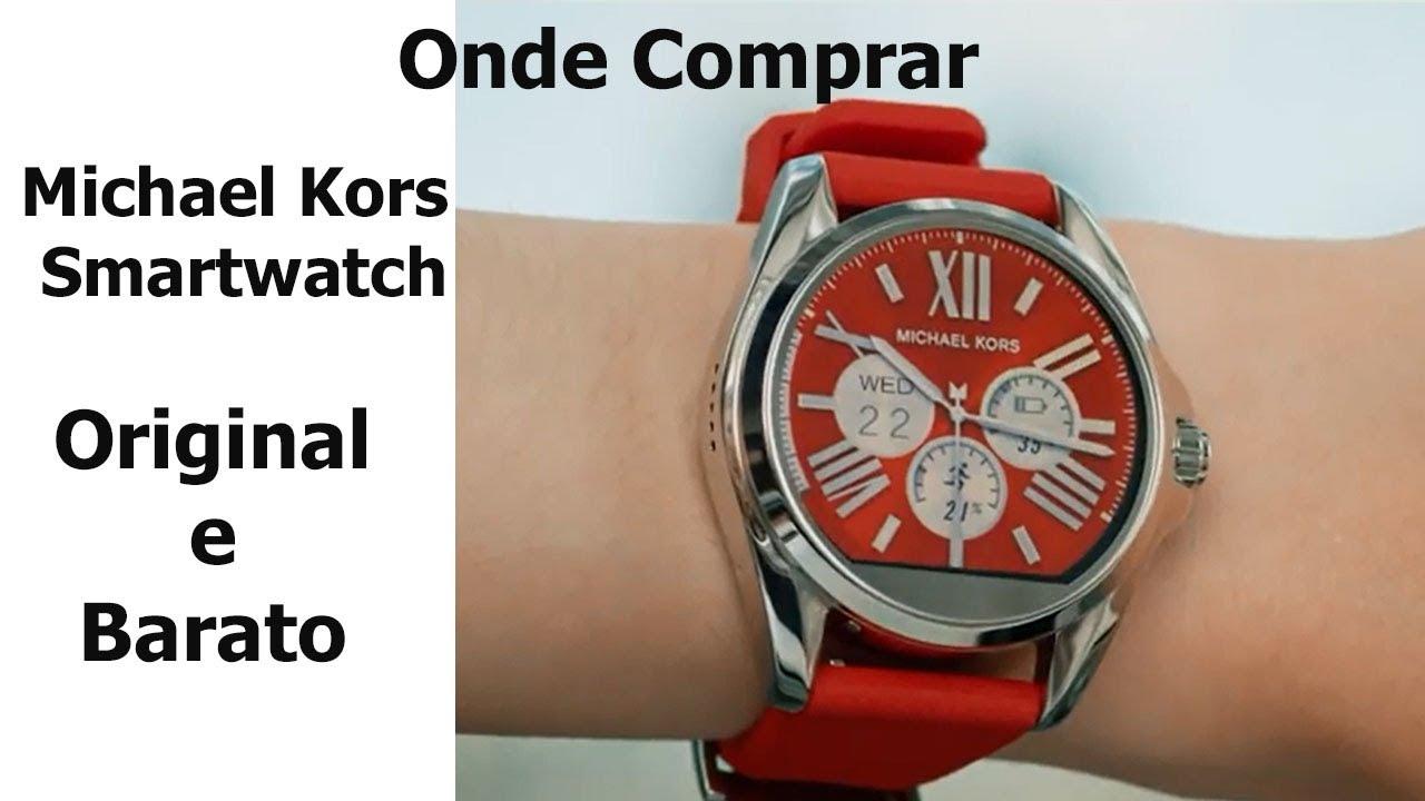 8907a11414e38 Onde Comprar Michael Kors Smartwatch Original e Barato - YouTube