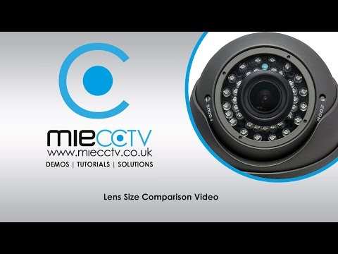 CCTV Camera Lens Size and Angle of View Comparison Video
