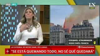 El argentino que salió de Notre Dame minutos antes del incendio: