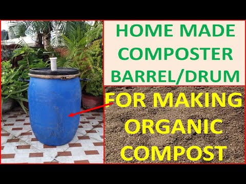 Home Made Composting Barrel/Machine For Making Compost/Khaad From Kitchen/Horticulture Waste [Hindi]