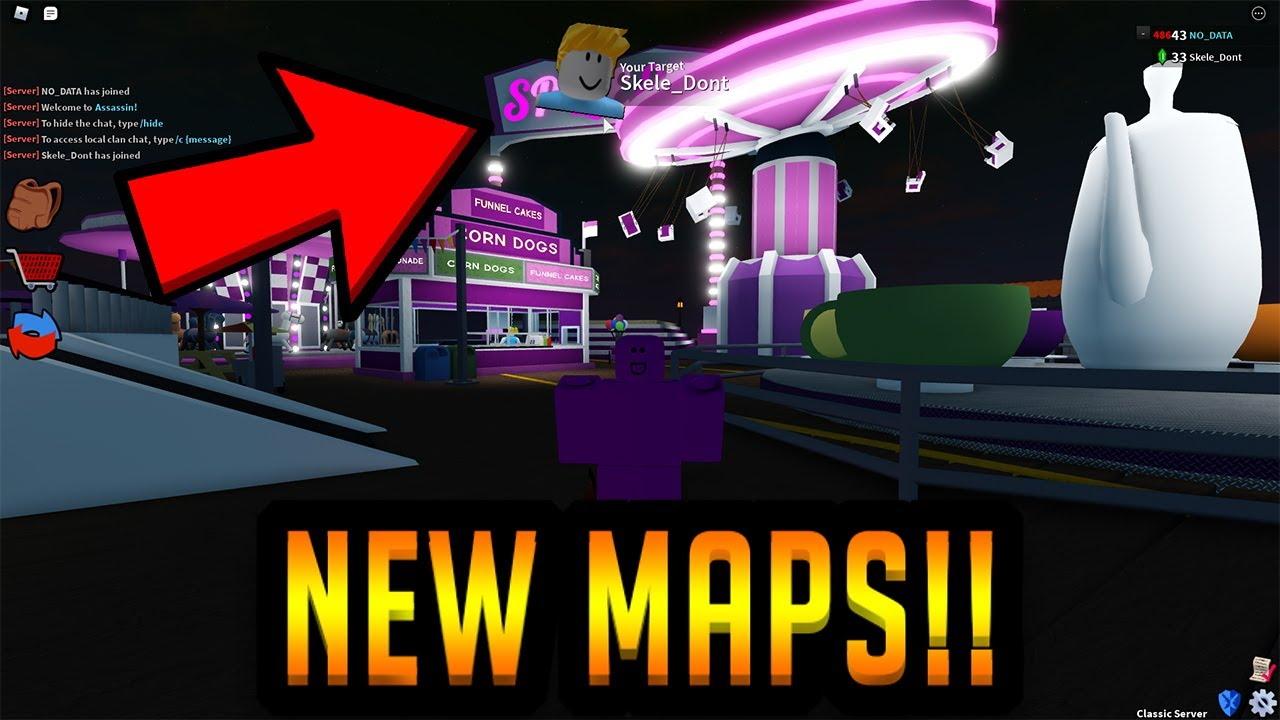 Values List In Roblox Assassin 3 Brand New Maps In Roblox Assassin Tricks Secrets Rise Of Angels