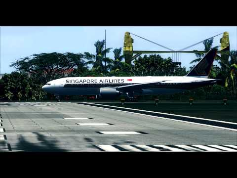 PMDG777 Take off at Rarotonga International Airport [NCRG]
