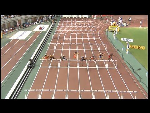 Men's 110m hurdles - Osaka 2007 - 50 fps