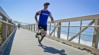 Marathon Runner Kim De Roy Shows off His 'Cheetah' Blade