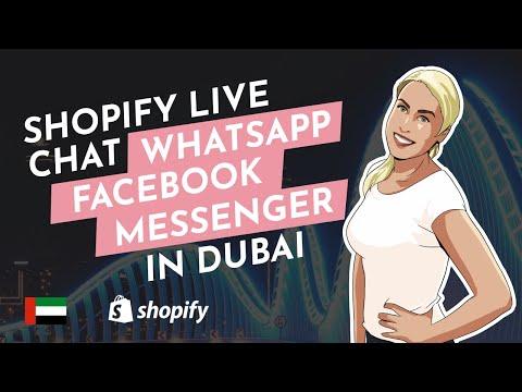 Shopify Live Chat, Whatsapp, Facebook Messenger In Dubai, UAE