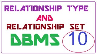 relationship and relationship set in dbms | relationship type and relationship set in dbms example
