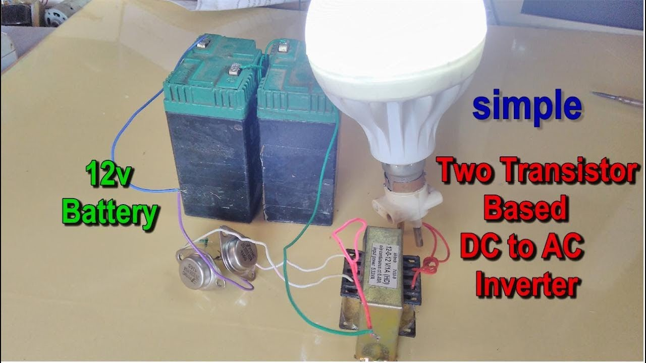 Two Transistor Based 12v Dc To 230v Ac Inverter Youtube Simple High Power By 2n3055 Gen