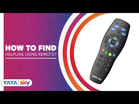 How to Find Tata Sky Helpline Number Using Remote | Tata Sky