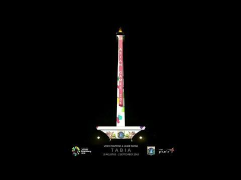 Luar Biasa Video Mapping Tugu Monas Jakarta Di Asian Games 2018