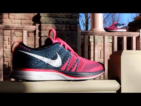 ea7f8278c6dd Nike Flyknit Trainer - Pink Flash Squadron Blue - Review On Feet ...