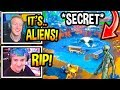 "Streamers React To *NEW* ""ALIEN BUNKER"" SITE In Loot Lake! *RIP* Fortnite Moments"