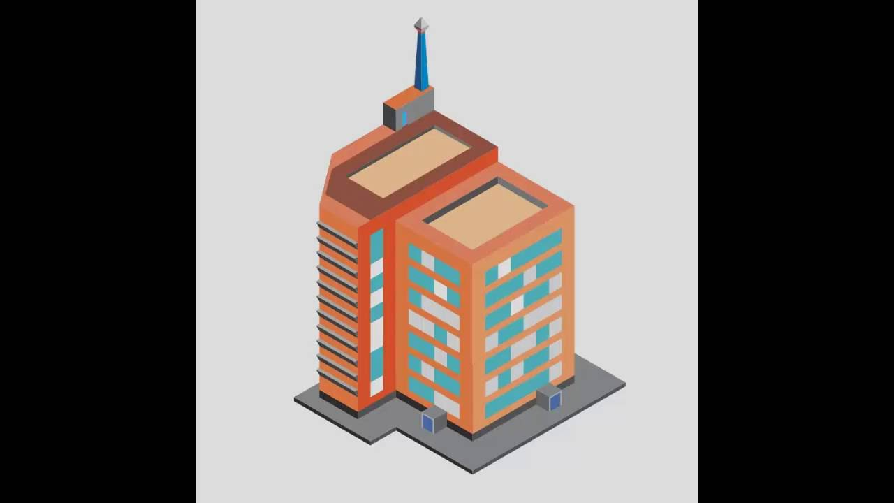 How To Draw Vector In Coreldraw Isometric Building Youtube