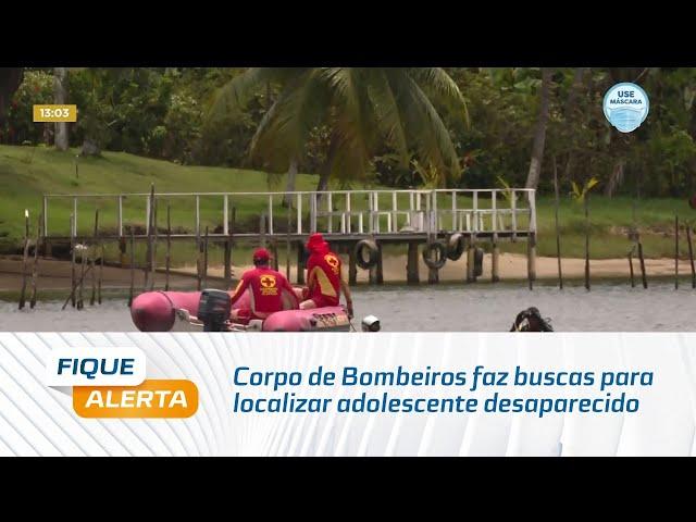 Corpo de Bombeiros faz buscas para localizar adolescente desaparecido na Ilha de Santa Rita