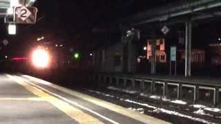 三戸駅にてカシオペアと定期運行最後のブルートレイン北斗星ラストラン...