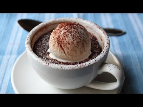 """Minute"" Chocolate Mug Cake - Chocolate Almond Coconut Cake in Less Than 60 Seconds!"