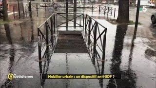 Mobilier urbain : un dispositif anti-SDF ?