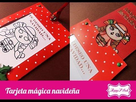 tarjeta mgica de navidad scrapbook