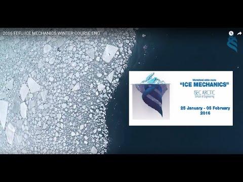 2016 FEFU ICE MECHANICS WINTER COURSE ENG