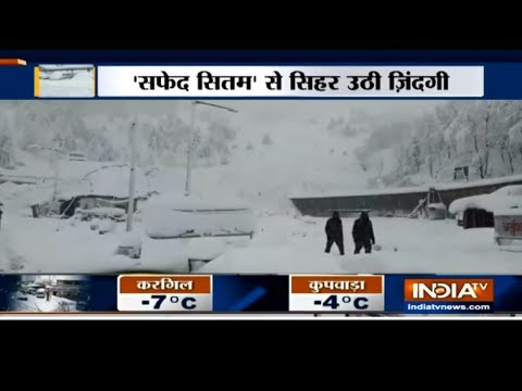 Heavy snowfall in Jammu & Kashmir and Himachal Pradesh