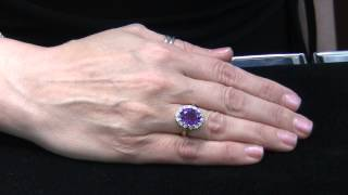 Deal of the Week: Yellow Gold Amethyst and Diamond Ring