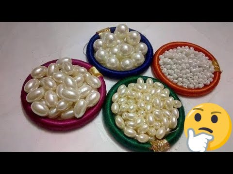#123 How To Make Pearl  Beaded Necklace (Unique) || Diy || Jewellery Making