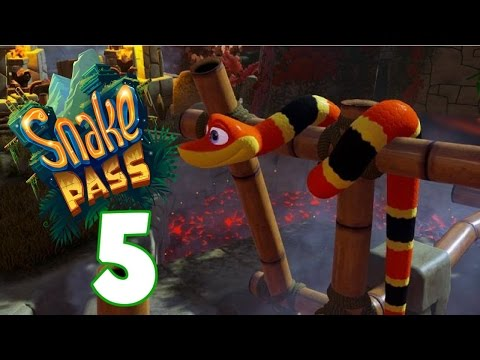 Getting Raked Over The Coals! - Let's Play Snake Pass Gameplay - Part 5