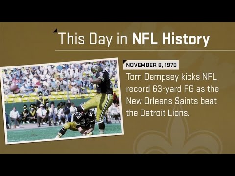 Tom Dempsey's Game-Winning 63-Yard Field Goal! | This Day in NFL History (11/08/70)