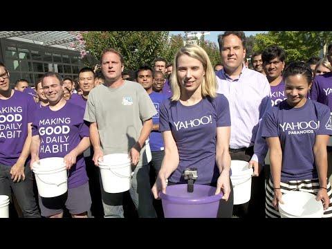 Yahoo CEO Marissa Mayer takes on the ALS Ice Bucket Challenge