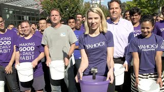Yahoo CEO Marissa Mayer takes on the ALS Ice Bucket Challenge