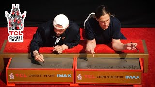 Kevin Smith and Jason Mewes TCL Chinese Theatre Hand & Footprint Ceremony