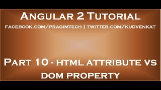 html attribute vs dom property