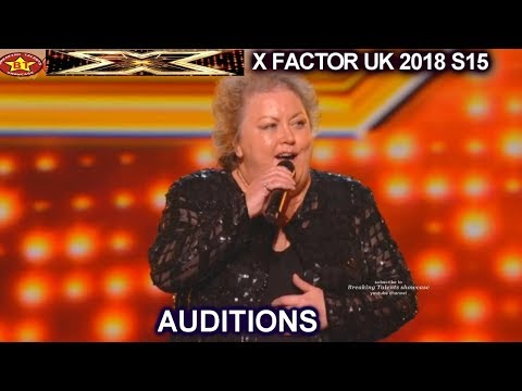 Jacqueline Faye 53 Farm Girl  鈥淵ou're My World鈥� STANDING OVATION AUDITIONS week 1 X Factor UK 2018