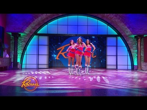 Audrey Nethery dances with the Knicks City Dancers!
