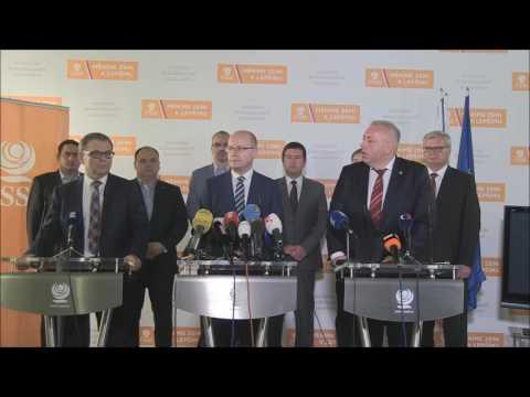 Tisková konference ČSSD po jednání politického grémia 14.06.2017