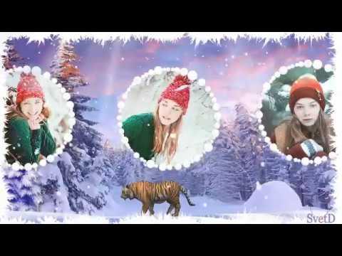 Красивый зимний проект 3D -  Free project for ProShow Producer