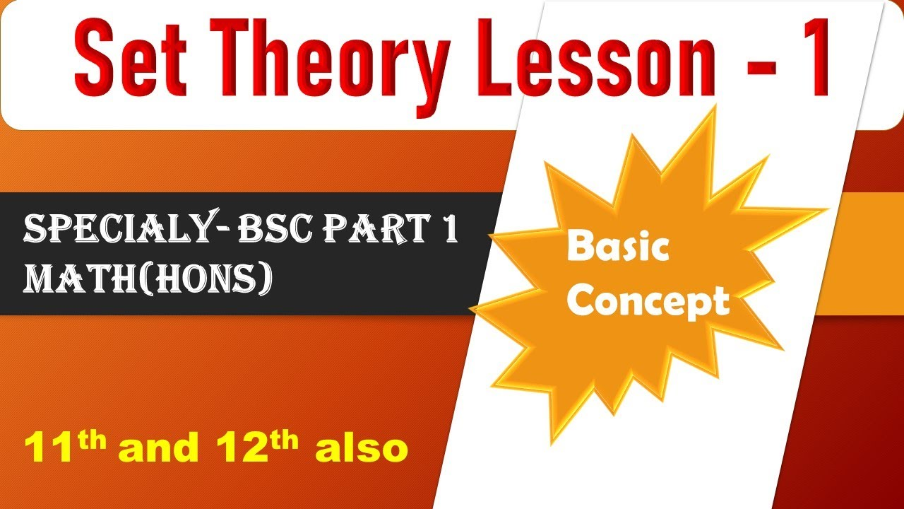 Set Theory Lesson 1 Basic For Bsc P 1  Basic P&l