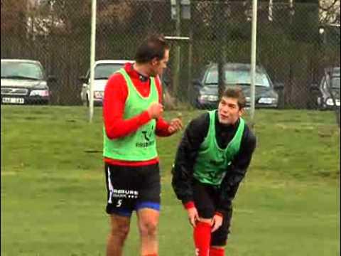 Granqvist och Denilson på första träningen med HIF