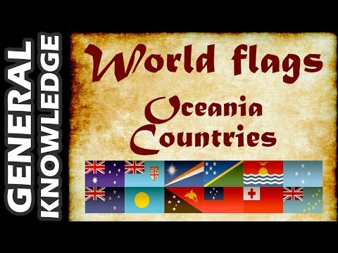 World Flags - Oceania Countries