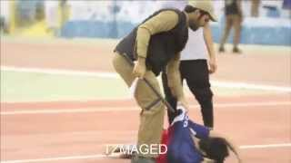 ضرب مشجع هلالي في مباراة السد -تصوير كامل