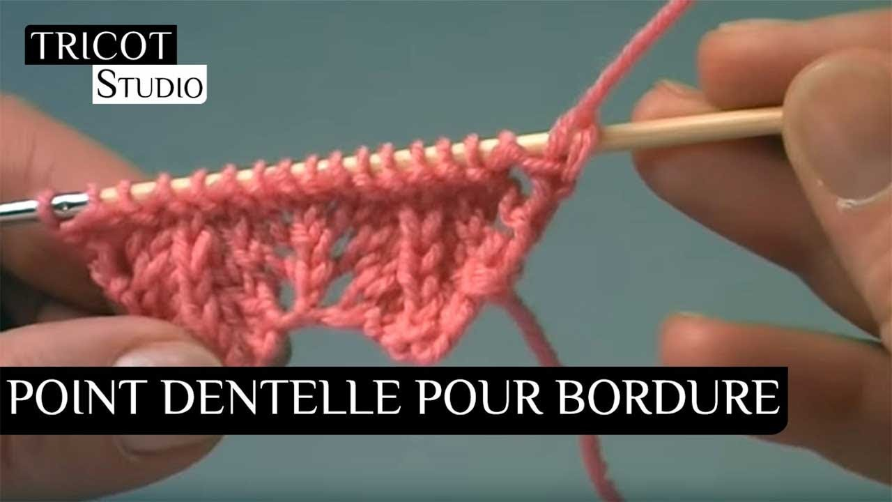Tricot Point Dentelle Pour Bordure Lace Border