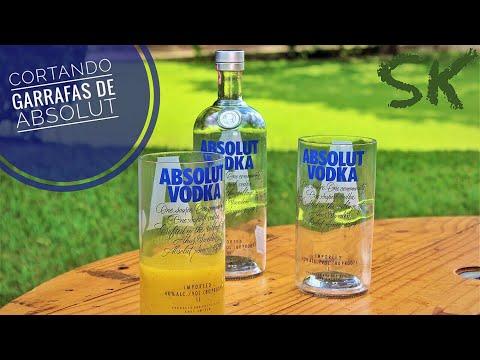 Copo de garrafa Absolut - Cortando Garrafas de Absolut   Faça você mesmo - DIY   SK