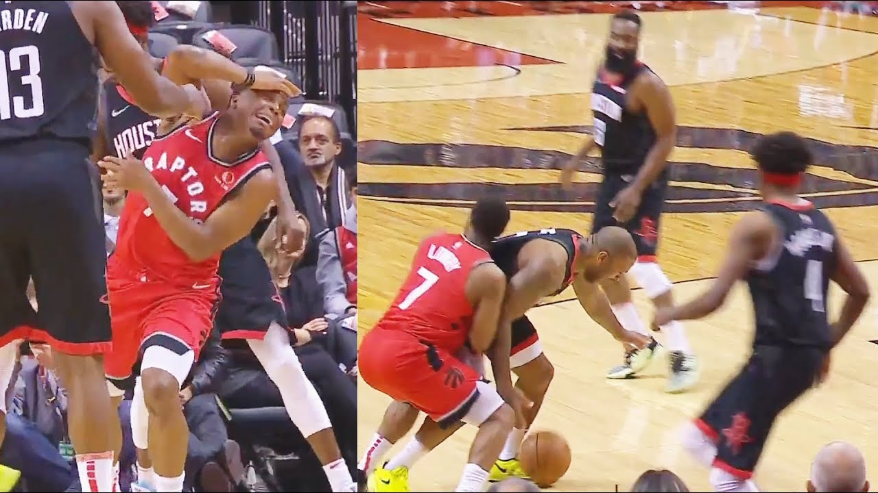 Kyle Lowry Gets Away With The Worst Flop Acting In The Nba Rockets Vs Raptors